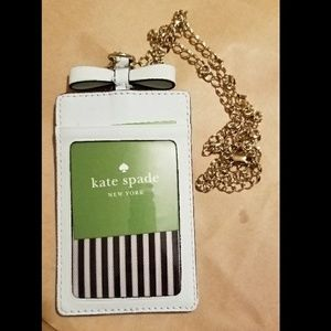 AUTHENTIC Kate Spade ID holder w chain